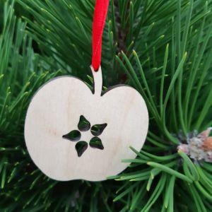 Vánoční ozdoba - Jablíčko 5 x 5 cm