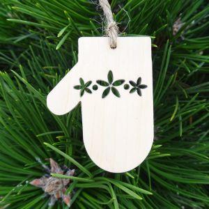 Vánoční ozdoba - rukavice 6x4,6 cm