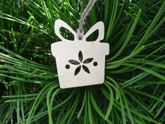 IMwood - Vánoční ozdoba - dárek 5x5,7 cm