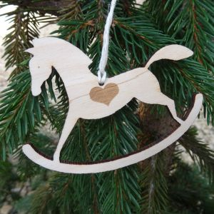 Dřevěný houpací koník závěsný 10 cm a 20 cm