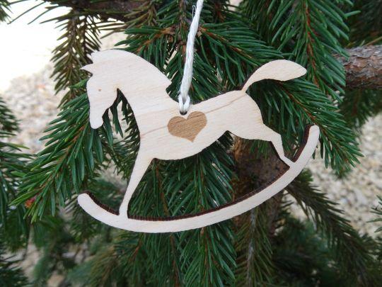 IMwood - Dřevěný houpací koník závěsný 10 cm a 20 cm