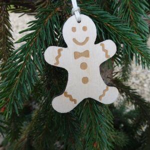 Vánoční ozdoba - perníček 4,7 x 6 cm