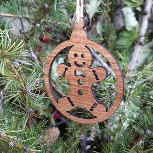Vánoční baňka dubová-perníček