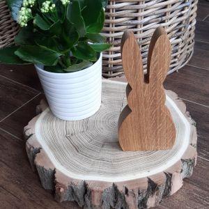 Dřevěný dubový zajíček