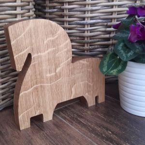 Dřevěný dubový kůň-valach