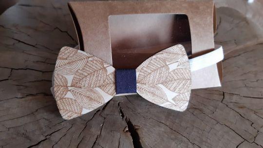IMwood - Dřevěný motýlek pro dospělé-listy