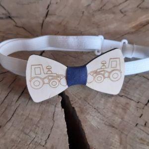 Dřevěný motýlek-Bagr-pro děti