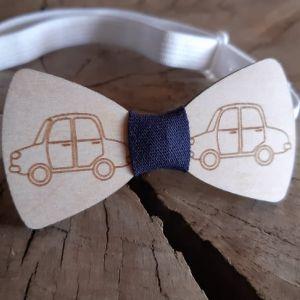 Dřevěný motýlek-auto-pro děti