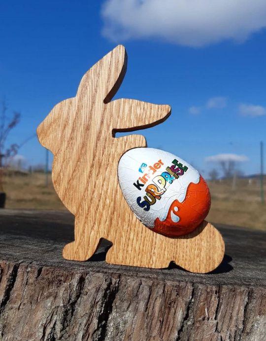 IMwood - Zajíček-na kinder vajíčko