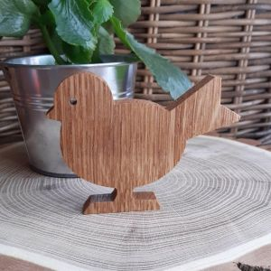 Dřevěný dubový ptáček 1-stojící
