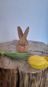 Dřevěné vajíčko-rovné uši-malé